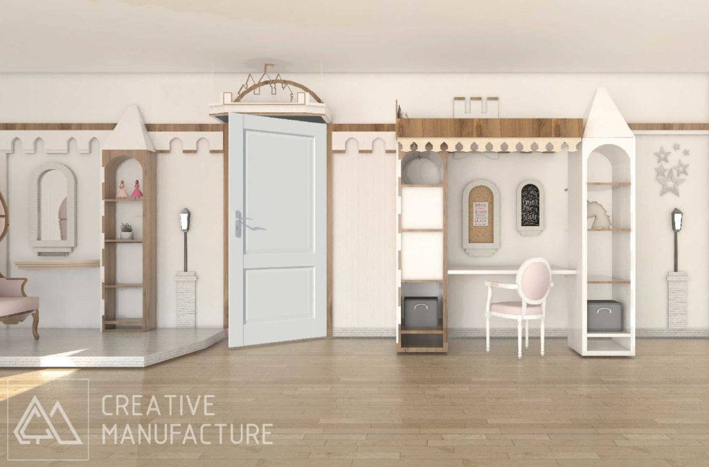 pokój księżniczki - wnętrze w stylu zamkowym